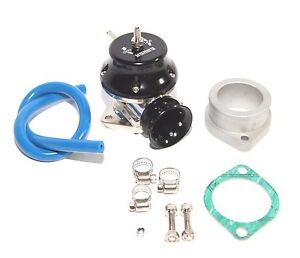 Black 2 5 Flange Mount Adjustable Type Rs Blow Off Valve Bov Turbo Charge