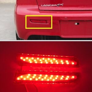 Rear Bumper Red Led Reflector Tail Light For Mitsubishi Lancer Sedan 2008 2016
