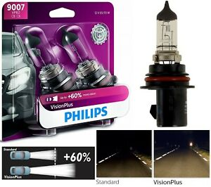 Philips Vision Plus 60 9007 Hb5 65 55w Two Bulbs Headlight High Low Replacement