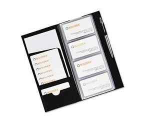 New Black Business Card Book Holder 96 Cards Id Credit Cards Organizer Keeper