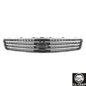 For Nissan Maxima 09 11 Front Grille Assembly Bright Chromed Shell Black Insert