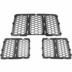 Oem Honeycomb Grille Insert 3 Piece Set Black For 14 16 Jeep Grand Cherokee New