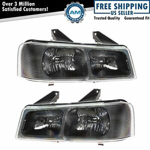 Headlights Headlamps Pair Set Of 2 Lh Rh For 03 19 Savanna Chevy Express Van