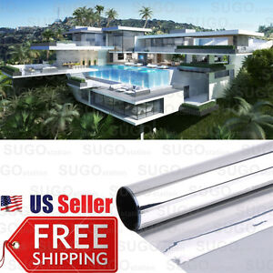 One Way Mirror Privacy Reflection 15 Tint Window Film Solar Energy Save 24 X6ft