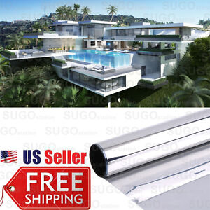 24 x24ft 1 Way Mirror Privacy Reflection 35 Home Office Tint Window Glass Film