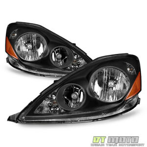 For Black 2006 2010 Toyota Sienna Halogen Type Headlights Headlamps Left right