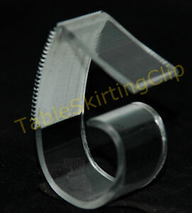 50 Large Table Skirting Skirt Clips Clip Fits Table Edges 1 25 To 2 5 Thick