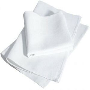 100 New White Glass Cleaning Shop Towel huck Towels Janitorial Lint Free 15x25