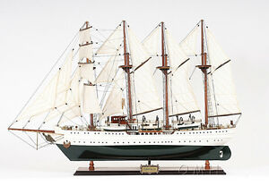 Esmeralda Chilean Tall Ship 37 Built Wooden Model Sailboat Assemble