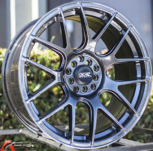 Xxr 530 18x9 75 Rims 5x100 114 3 20 Chromium Black Wheels Set Of 4