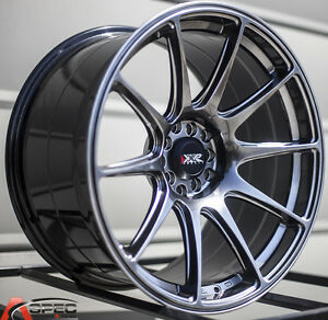 Xxr 527 18x8 75 Rims 5x100 114 3 35 Chromium Black Wheels Set Of 4