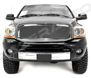 06 09 Dodge Ram Truck 2500 3500 Front Hood Chrome Mesh Grille Replacement Shell