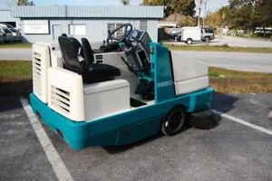 Tennant 6550e Ride On Re manufactured Sweeper Electric Free Shipping