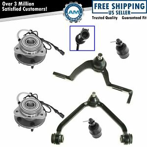 Hub Bearing Assembly Ball Joint Control Arm 6pc Suspension Kit For Explorer 4wd