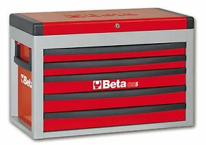 Beta C23s 5 Drawer Portable Tool Chest Top Box Red