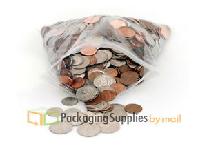 500 Zipper Bags Self Seal Resealable Grip Poly Plastic Clear 2 Mil