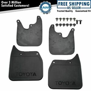 Oem 4 Piece Mud Flap Splash Guard Set Molded Black Plastic For Toyota Tacoma 2wd