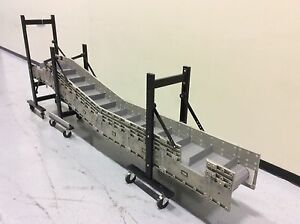 Dyna con 12v33080f Portable Modular Conveyor Flighted Belt 12 w X 120 l