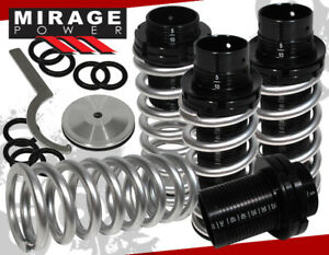 Fits 00 05 Mitsubishi Eclipse Scale Adjustable Coilover Springs Lowering Silver