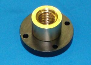304070 932 Bronze Nut With Steel Flange For 1 5 Acme Rh Precision Lead Screw