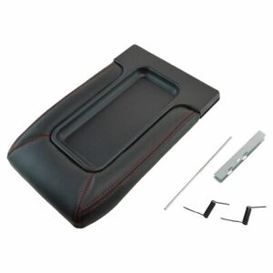 Black With Red Stitching Console Repair Lid Kit For Chevy Gmc Pickup Truck Suv