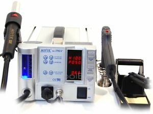 Aoyue 2702a Lead free Hot Air Soldering Station Desoldering Gun Esd Safe 220v