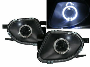 E Class W211 03 06 Guide Led Angel Eye Fog Light Lamp Black For Mercedes Benz