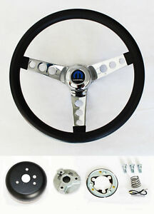 1970 87 Dodge Ram D100 D200 D300 Pick Up 2wd Truck Black Steering Wheel 13 1 2