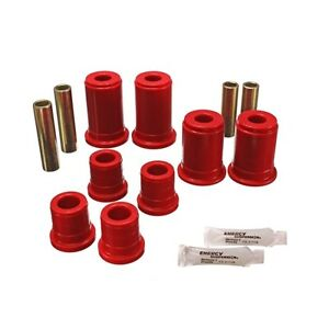 Energy Suspension 3 3147r Control Arm Bushing Set Red Front