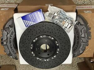 Gm Oem Brembo 2009 13 Chevy Corvette Z06 Zr1 Front Gray Calipers Carbon Rotors