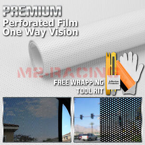 11 Sizes Perforated One Way Vision White Print Media Vinyl Privacy Window Film