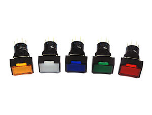 10pc Deca Socket Illuminated Pushbutton Switch C1s02 t51 Dpdt Momentary 24v Lamp