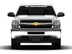 Silverado Chevy Chevrolet Bowtie 36 Windshield Banner Decal Sticker Car Truck