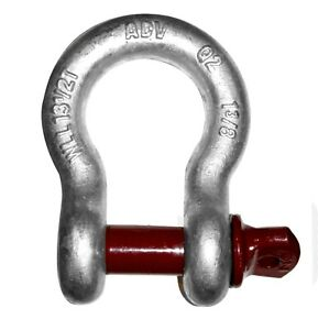 1 1 2 Clevis Screw Pin Anchor Shackle Wll 17 Tons Lifting Rigging Crane