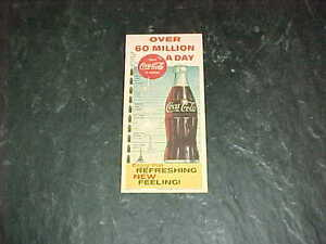 1960 Coca Cola Advertising Card Over 60 Million A Day Ink Blotter