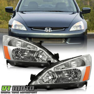 For 2003 2007 Honda Accord 2 4dr Sedan Coupe Headlights Headlamps Left right