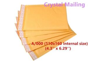 100 A 000 A000 Small White Padded Bubble Lined Envelopes Mail 110 X 160mm Cs