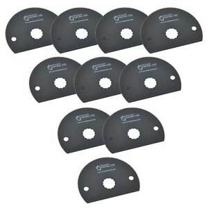 Sb10i 80mm Hss Semi circular Multi tool Saw Blades 10 pack Fits Fein Multimaster