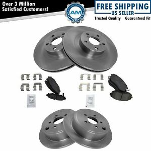 Nakamoto Premium Posi Ceramic Brake Pad Rotor Kit Front Rear Set For Subaru