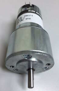 12v Dc Gear Motors Globe Motors Part No 455a117 2