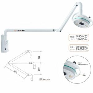 36w Medical Wall Mounting Led Surgical Exam Light Shadowless Lamp Cold Light