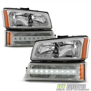 2003 2006 Chevy Silverado 1500 2500 3500 Headlights Led Drl Bumper Signal Lights