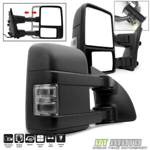 Left right 2008 2016 Ford F250 Super Duty Power Heated Signal Tow Mirrors Smoke