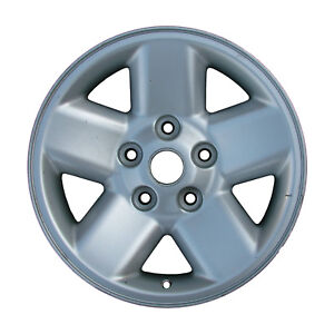 02165 Refinished Dodge Ram 1500 2002 2003 17 Inch Wheel Rim Silver With Ledge