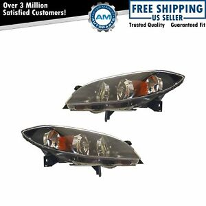 Headlights Headlamps Left Right Pair Set For 04 06 Mazda 3 Mazda3 Sedan 4 Door
