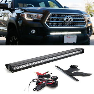 150w 30 Led Light Bar W Lower Bumper Brackets Wirings For 16 up Toyota Tacoma