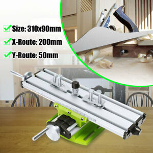 2 Axis Milling Compound Working Table Cross Sliding Bench Drill Vise Fixture Diy