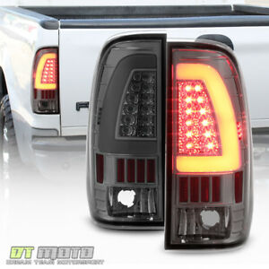 Smoke 1997 2003 Ford F150 99 07 F250 Superduty Led Tube Tail Lights Brake Lamps