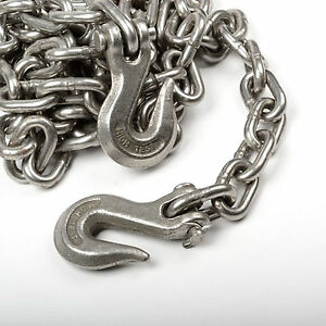 3 8 X 14 Heavy Duty Tow Chain Automotive Truck Towing 14ft Log Chain