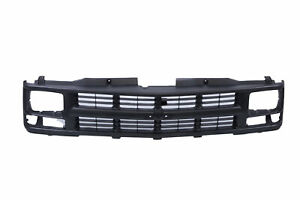 Argent Grille W insert Trim For 94 00 Chevy C k Pickup Truck Seal Beam Type